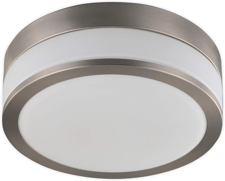 Lampenwelt Deckenlampe 'Flavi' (spritzwassergeschützt) (Modern) in Wei aus Metall u.a. für Badezimmer (2 flammig, E27, A+, inkl. Leuchtmittel) - Bad Deckenleuchte, Lampe, Badezimmerleuchte