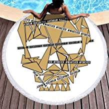 "Clubdeer Fear is Reaction Courage is a Decision Beach Towel Blanket with Tassels Multifunctional Purposes Blanket Super Water Absorbent Roundie 59"" D"