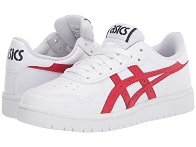 ASICS Kids Japan S GS (Big Kid) (White/Classic Red) Girl
