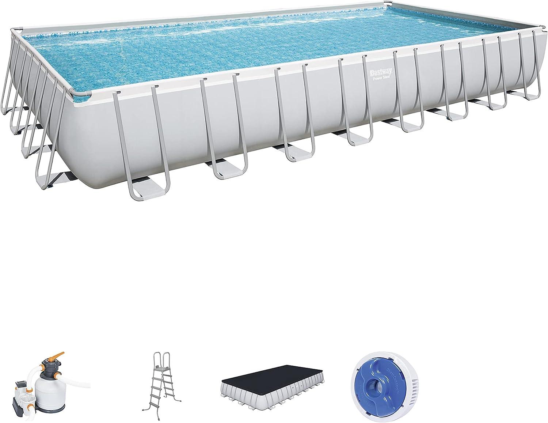 Bestway Power Steel Rectangular Pools, Grey