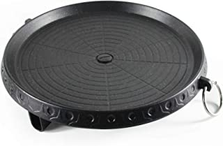 Korean BBQ Grill Pan, Stovetop Indoor/Outdoor Cast Aluminum Non-stick Grill Pan, for Portable Gas Stove