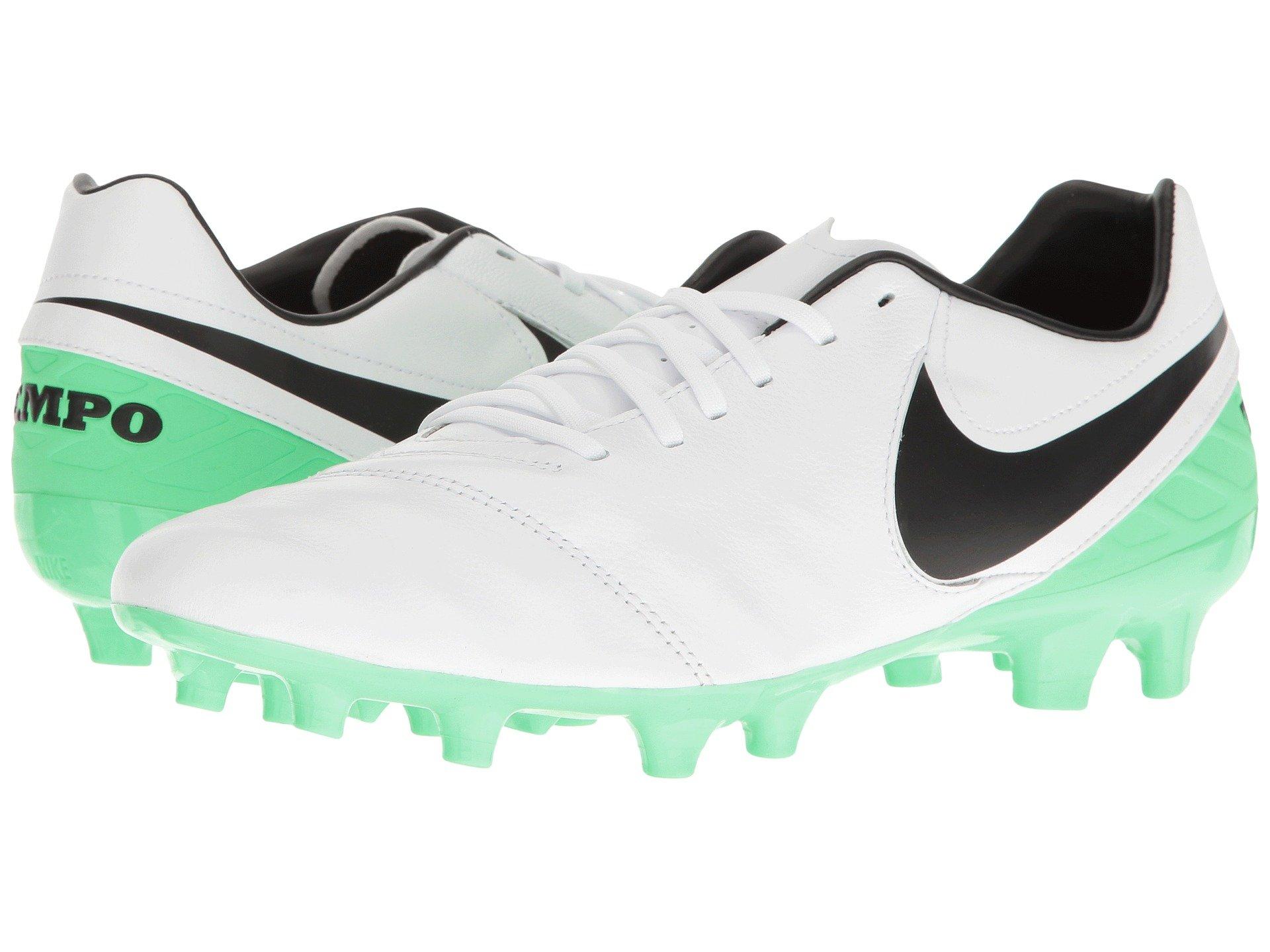 big sale 8e4b7 bca62 Nike Tiempo Mystic V Fg In White Black Electro Green