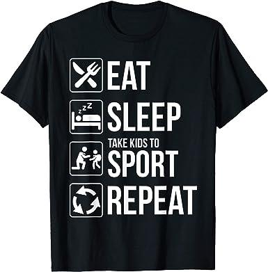 Eat Sleep Basketball Repeat Novelty Toddler Kid Baby Boys Girls Long Sleeve Tee Clothing