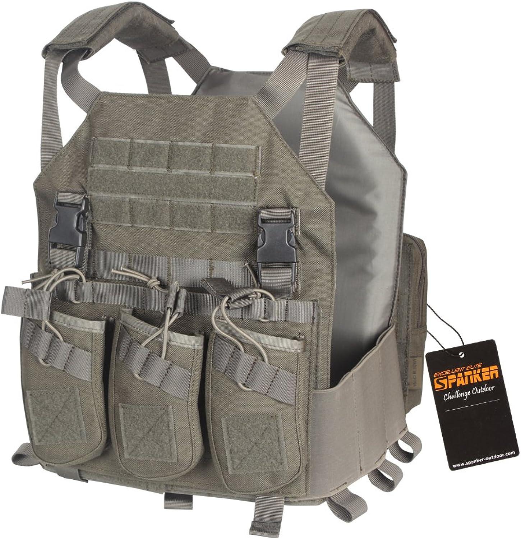EXCELLENT ELITE SPANKER Tactical Molle Vest Module with Triple AK Magazine Airsoft Modular Outdoor Breathable Tactical Vest