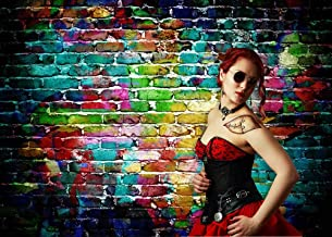 Fanghui Colorful Brick Wall Photography Backdrop For Studio Prop Photo Background Vinyl 7x5FT