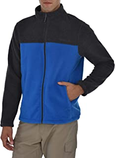 Swiss Alps Mens Full Zip Performance Polar Fleece Jacket Sweatshirt with Pockets
