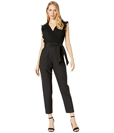 Rebecca Taylor Sleeveless Pleated Jumpsuit (Black) Women