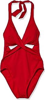 Kenneth Cole New York Women's Halter Cutout Mio One Piece Swimsuit