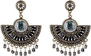 Tassel Earrings Fahion Hoop Earrings Bohemian Drop Earrings Jhumka Chandelier Gypsy Ethnic Statement Earring Thread Jewelry Charming Cute Girls Drop Earring Gifts for Mom Sister and Friends