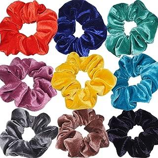 Velvet Scrunchies Hair Ring Simple Hair Accessories Headbands Bobbles Heads High Elastic Rubber Band Hair Rope Hair Ties Scrunchies Elastic Material for Headbands - Nine Colors