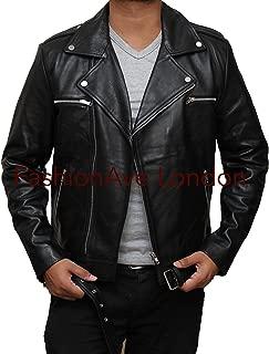 Men's Walking Dead Real Leather Jeffery Dean Morgan Jacket