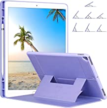 Ztotop Case for iPad Pro 12.9 with Pencil Holder, Secure Magnetic Stand Folio Case with Auto Wake/Sleep,Adjustable Angle Viewing,Soft Silicone Back Cover for Apple iPad 12.9-Inch 2017/2015, Purple
