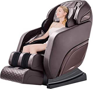 Ootori Massage Chair,Zero Gravity SL-Track,Full Body 3D Shiatsu Electric Massage Chairs with Heat, Vibrator&Foot Roller Brown