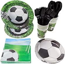 Soccer Party Supplies (113+ Pieces for 16 Guests!), Soccer Birthday Party Kit, Futbol Tableware Decorations, Party Pack