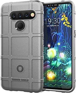 QFH Full Coverage Shockproof TPU Case for LG V50 ThinQ (Army Green) new style phone case (Color : Grey)