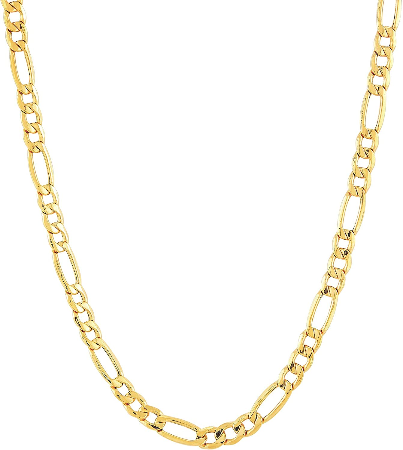 Welry Men's Italian-Made 3+1 Figaro Link Chain Necklace in 14K Gold, 20
