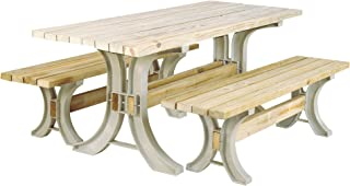 2x4basics 90182ONLMI Custom Picnic Table Kit, Sand