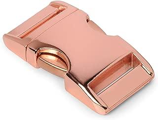 """bracelet, collier pour chien, etc Fermoir /à clip en m/étal 40mm x 20mm grandeur: M 5//8/"""" lot de 3 fermoirs attache /à clipser boucle couleur: or de la marque Ganzoo id/éal pour les paracordes"""