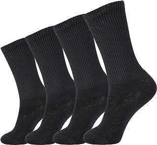 +MD 2/4/6 Paires Chaussettes ultra-douces fibre bambou pour hommes femmes Chaussettes de sport