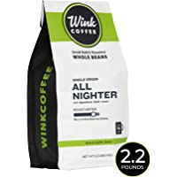 Wink Coffee All Nighter Dark Roast Whole Bean Coffee, Large 2.2 Pound Bag