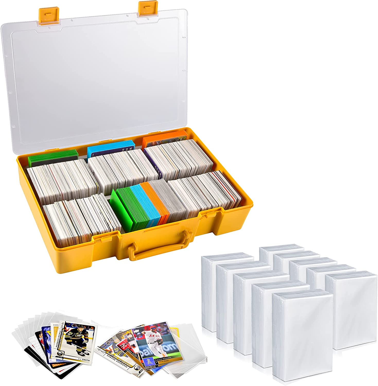Large 2200+ Trading Low price Card Game Holder 1000 S Max 74% OFF with Organizer Penny