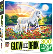 MasterPieces Glow in the Dark Bedtime Stories Unicorns Large EZ Grip Jigsaw Puzzle by Steve Read, 300-Piece
