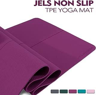 TENOL JELS Yoga Mat Non Slip,Eco Friendly SGS Certified TPE Yoga Mat,Extra Thick 1/4