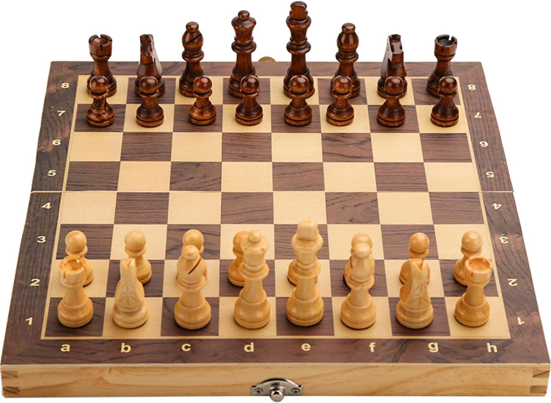 FIBVGFXD Chess Set Super-cheap Large Ranking TOP19 Wooden Magnetic Folding Se