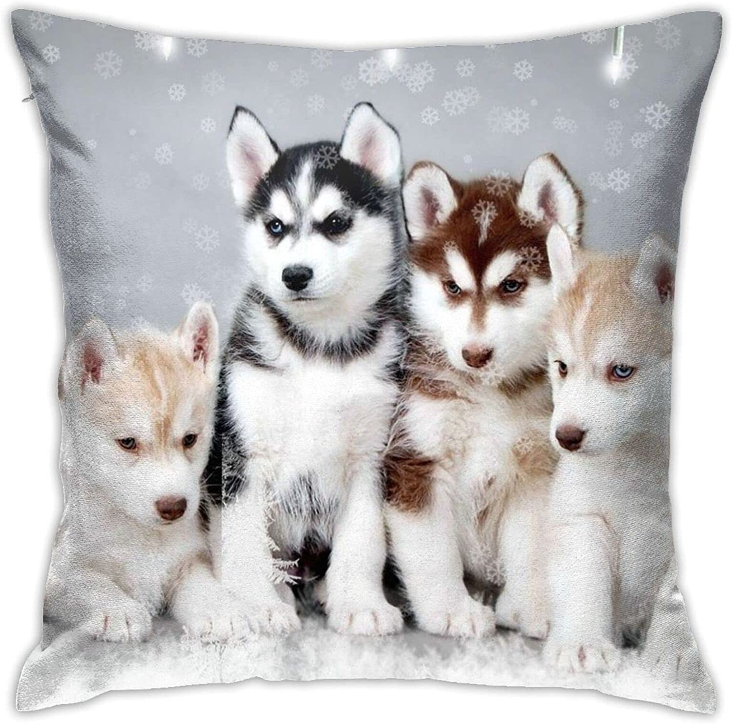 Husky Puppy 18 X Inches Cute Couch Ind Bed and Max 73% OFF Pillows 5 ☆ very popular Design