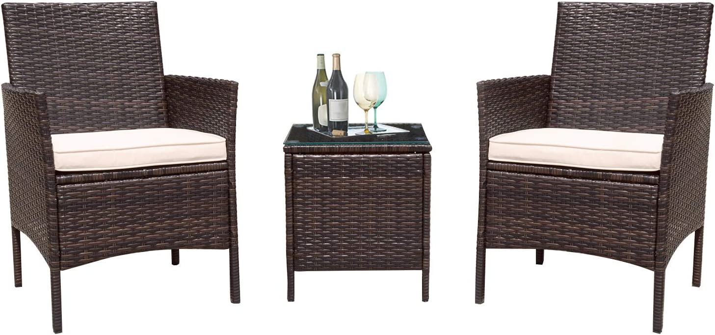 Flamaker 3 Pieces Patio 70% Ranking TOP12 OFF Outlet Furniture Set Cle Outdoor Sets