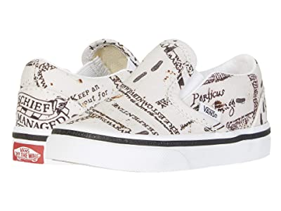 Vans Kids Vans x Harry Potter Sneaker Collection (Infant/Toddler) ((Harry Potter) Classic Slip Marauders Map/Classic White) Kids Shoes