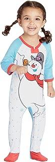 Frosty The Snowman Baby Fleece One Piece Onesie Footie Sleeper Holiday Pajama