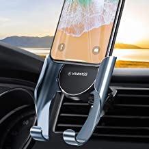 [2020 Upgraded] VANMASS Universal Car Phone Holder, 0.5s Slide in & Out Car Phone Mount, Ultra-Light Vent Cell Phone Holder for Cars for iPhone SE 11 Pro Max XR Xs Max, Samsung Note 10 S10 S9(Gray)