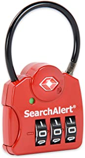 SearchAlert 3-Dial TSA Combination Lock with Red Finish - 6 Pack