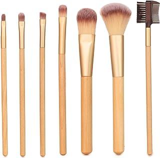 Live Green Makeup Brush Collection, 7 Piece Makeup Brush Gift Set, Powder Brush, Foundation Brush, Eye Shadow Brush, Conce...