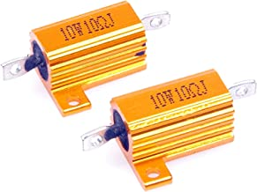 LM YN 10 Watt 10 Ohm 5% Wirewound Resistor Electronic Aluminium Shell Resistor Gold for Inverter LED lights Frequency Divider Servo Industry Industrial Control 2-Pcs - coolthings.us