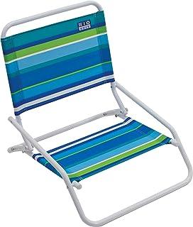 RIO Beach Wave 1-Position Beach Folding Sand Chair - Ocean Stripes