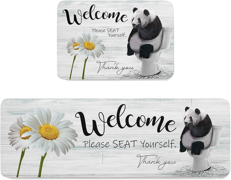 ZOE STORE 2 Pieces Sales Memory Sponge Indoor Doormats Pensive New color Pan Set