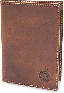Leather Passport Holder Travel Wallet - RFID Blocking Genuine Leather Travel Wallet for Men and Women | Bifold Passport Wallet for Travel
