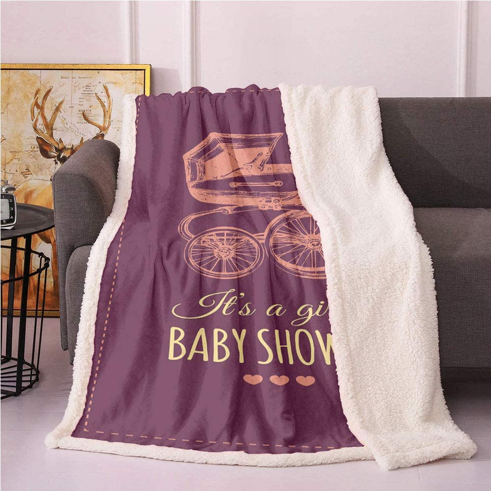 Baby Shower Fleece Blanket Be super welcome Its with Girl Lowest price challenge a Lettering