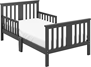 Storkcraft Mission Ridge Toddler Bed Gray, Fits Standard-Size Toddler Mattress (Not Included), Guardrail on Both Sides, Meets or Exceeds All Federal Safety Standards, Pine & Composite Construction