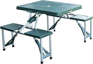 HOMCOM Folding Camping/Picnic Table with Stools
