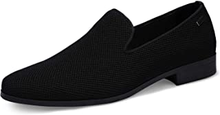UUBARIS Mens Loafers Dress Shoes Slip On Driving Shoes Classic Tuxedo Knit Walking Shoes