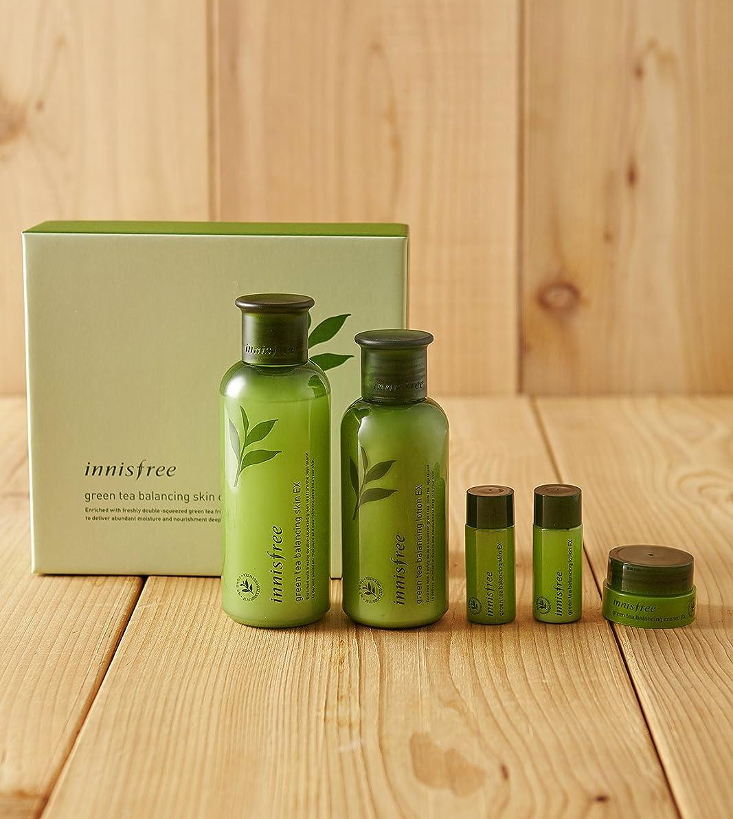 ワイプ活気づける勘違いするinnisfree green tea balancing skin care set ex/イニスフリーグリーンティーバランシングスキンケアセットex