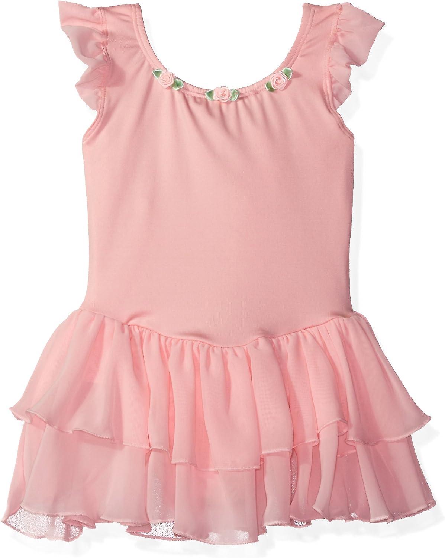 Clementine Girl's Microfiber Flutter Max 43% online shop OFF Dance Sleeve Leotard