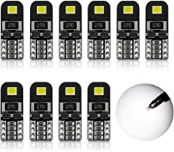ENDPAGE 194 LED Bulbs Canbus Error Free 6000K Xenon White Super Bright 2835 Chipsets 168 2825 175 T10 W5W LED Replacement Bulbs for Car Dome Map Door Courtesy License Plate Lights(Pack of 10)