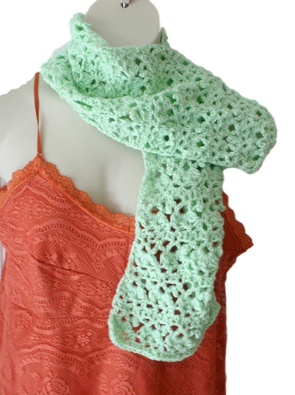 Handmade Japan's largest assortment Industry No. 1 Mint Green Scarf Tr Knitwear Apparel Crochet