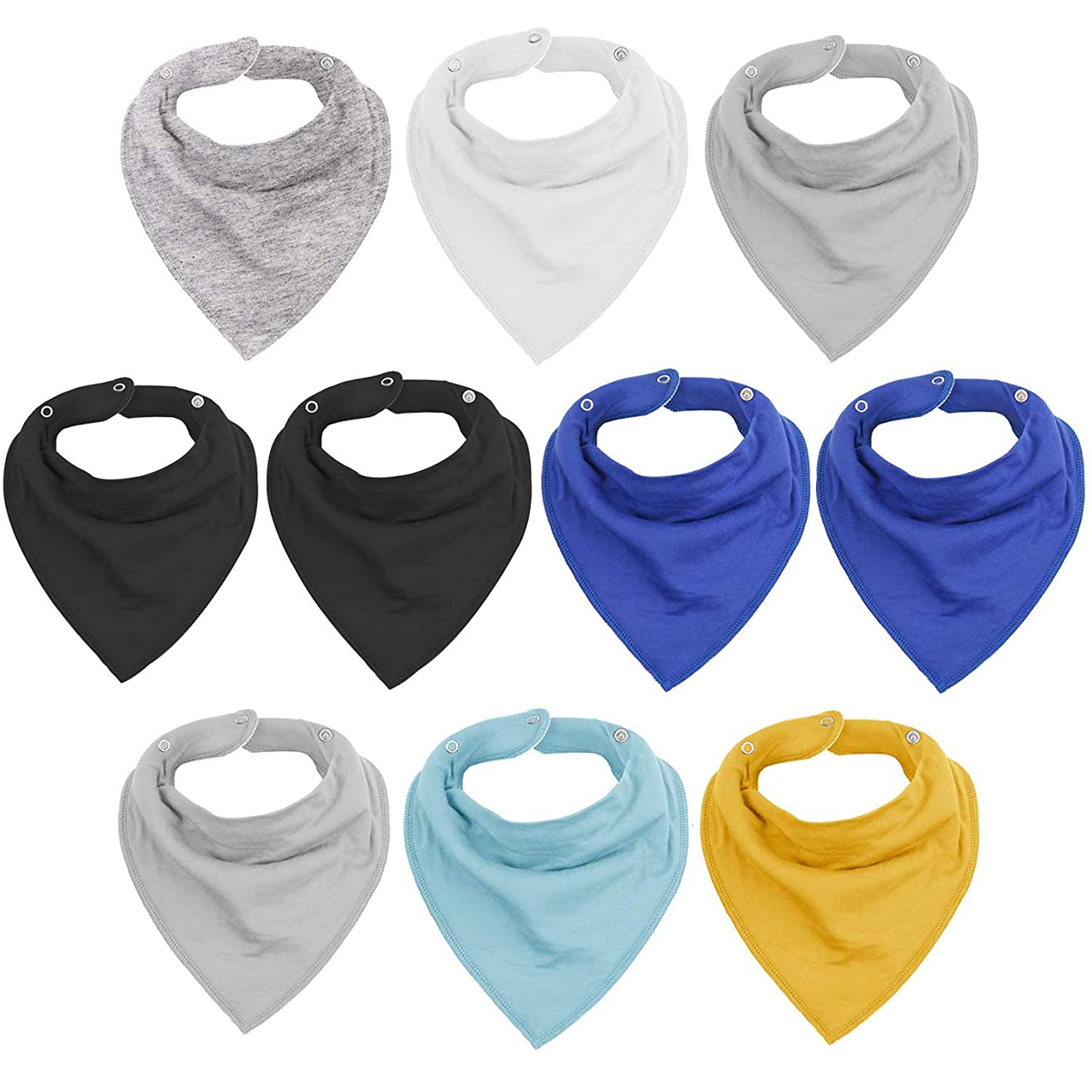 Baby Bandana Drool Bibs for Drooling and Teething 10 Pack Cute Baby Gift for Boys & Girls, Super Soft Absorbent Organic Cotton Toddler Baby Shower Gift Set by Vetoo