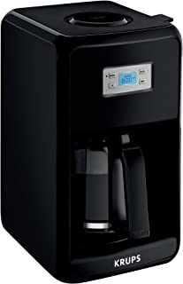 KRUPS Coffee Maker, Coffee Machine, LED Control Panel, 12 Cups, Black