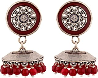 Voylla Jhumki Earrings for Women (Silver)(8907617887845)